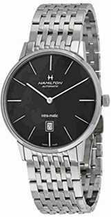 Hamilton Intramatic Black Dial Stainless Steel  Mens Watch