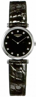 Longines La Grande Classique Quartz Black Diamond Dial  Ladies Watch