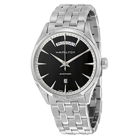 Hamilton Jazzmaster Day/Date Automatic Black Dial Stainless Steel  Mens Watch