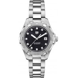 TAG Heuer Aqua Calibre 9 Auto Black Dial Stainless Steel  Ladies Watch