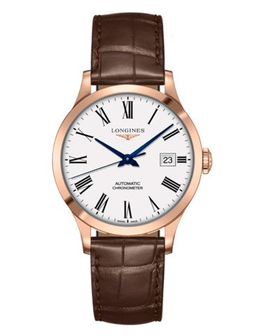 Longines Record 38 mm  Gold 18K Automatic Mens Watch