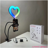 SMALL HEART RGB w clamp and phone holder