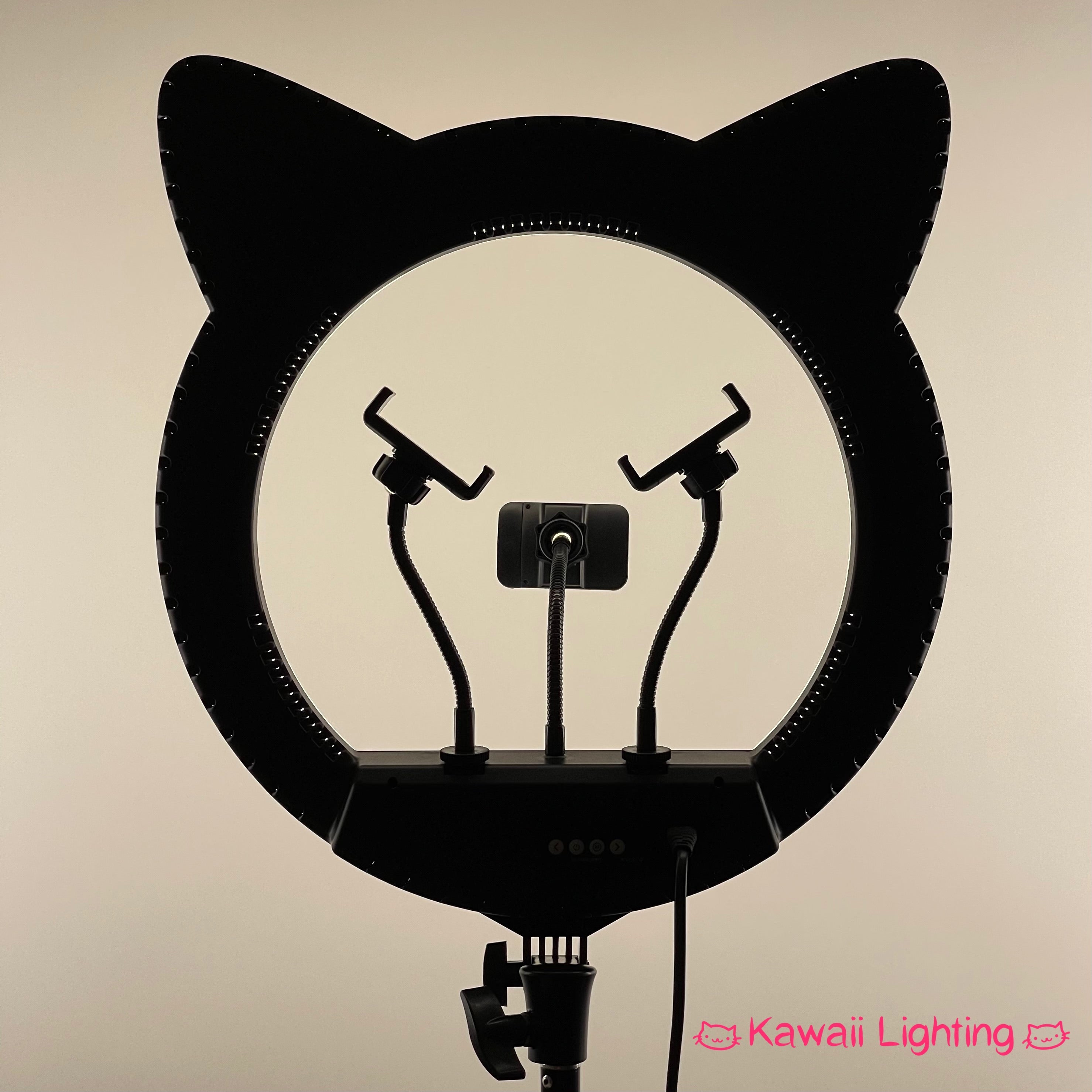 "Cat Ring Light by Kawaii Lighting 20"" Professional Cat Ear Dimmable LED Ring Light Kit"
