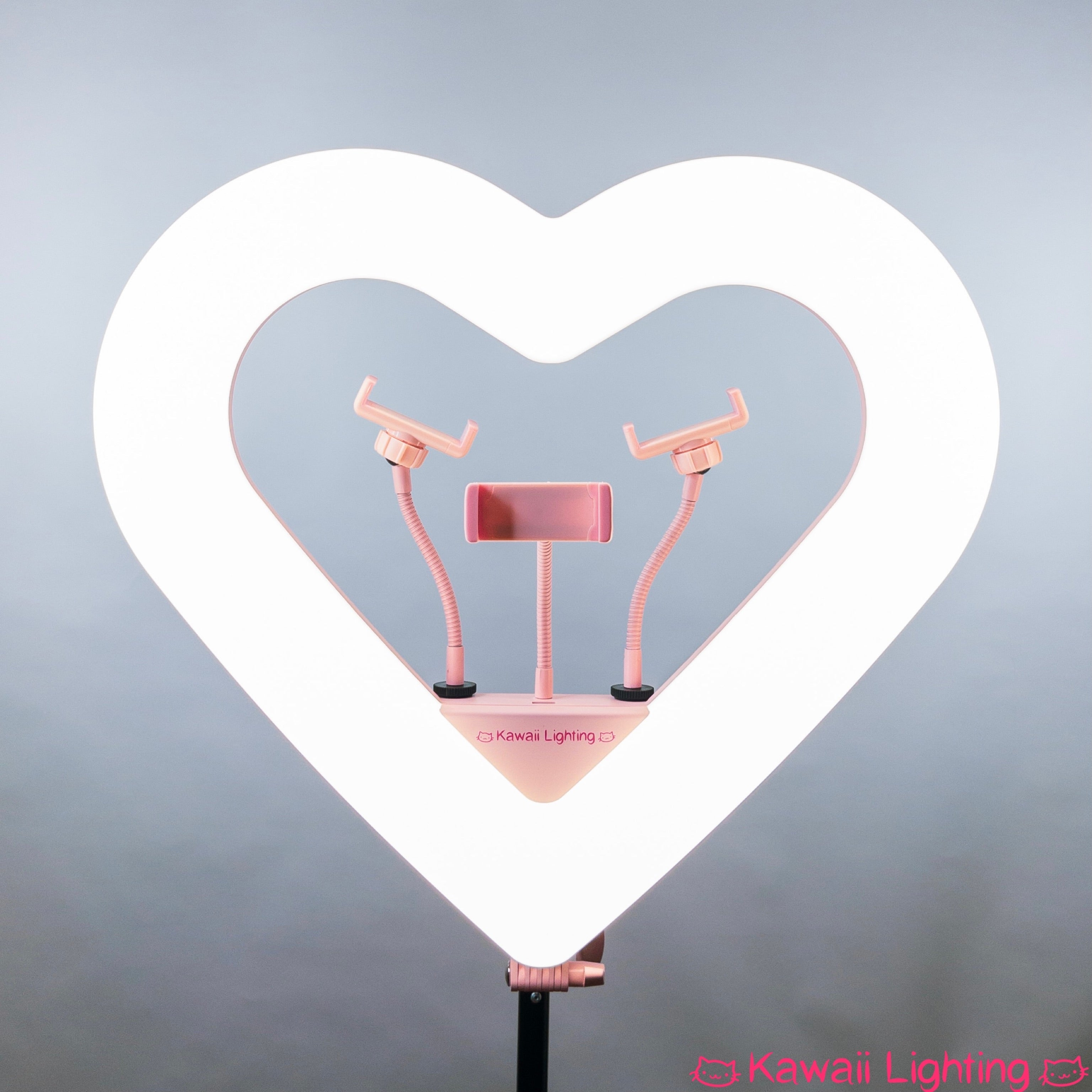 "Heart Ring Light RGB by Kawaii Lighting 20"" Pro Heart Shape Dimmable RGB LED Ring Light Kit"