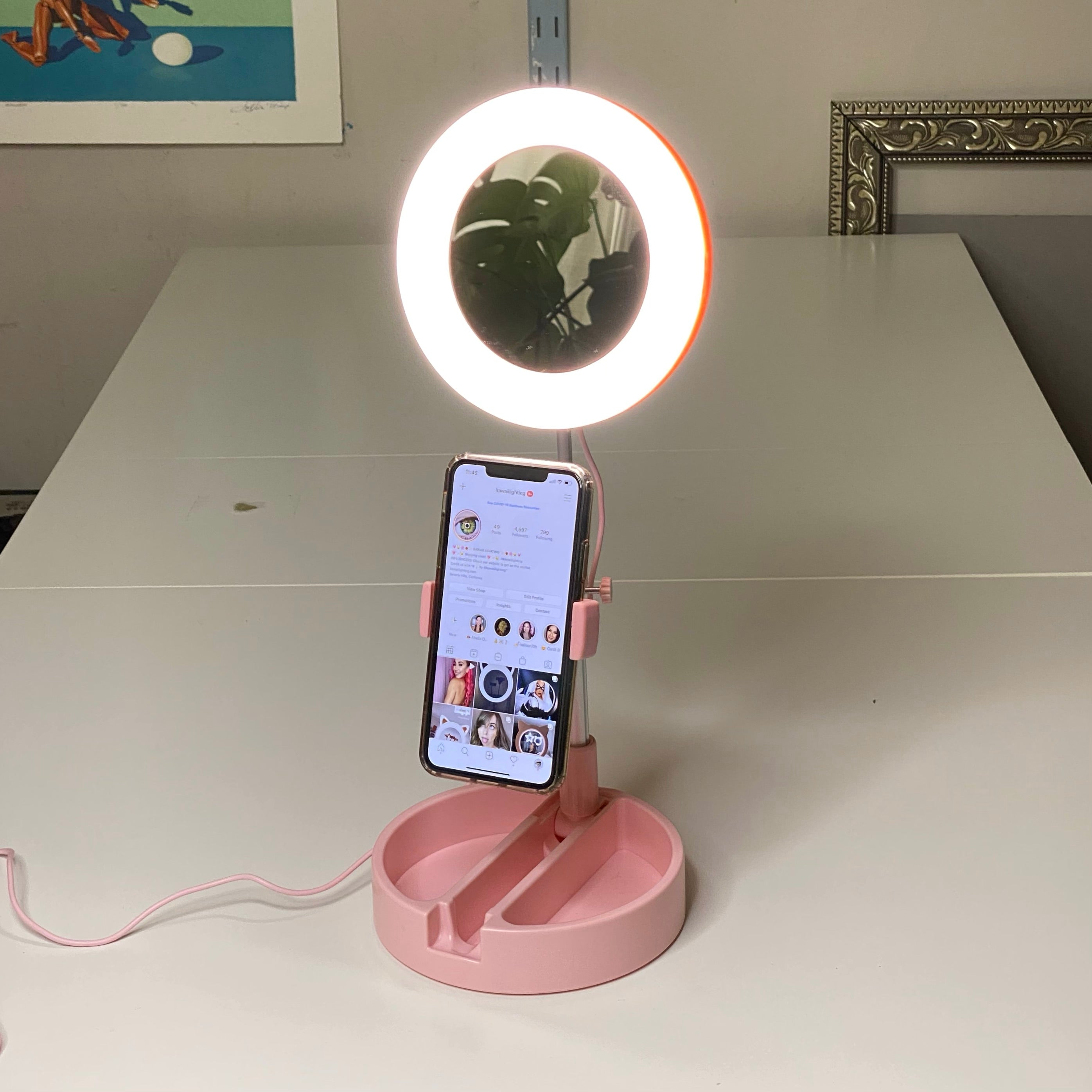 "Small Portable Foldable Ring Light ALL-IN-ONE by Kawaii Lighting (G3) 6"" Mobile Ring Light"