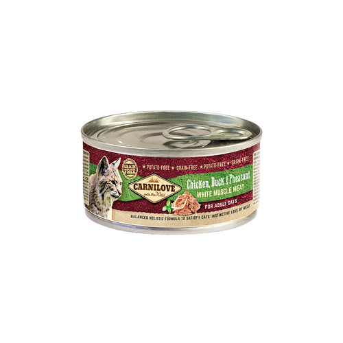 Carnilove Cat dós Chicken, Duck & Pheasant 100g