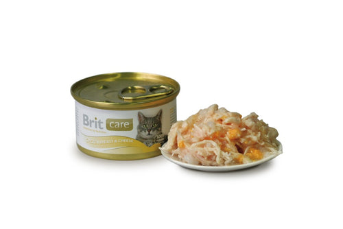 Brit C Cat Dós Chicken Breast & Cheese 80g