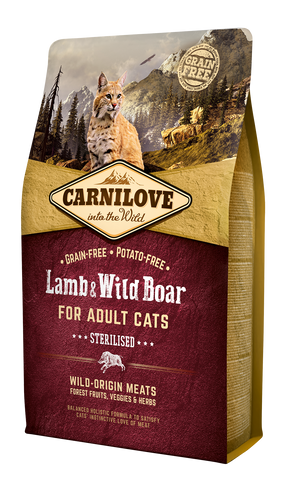 Carnilove Cat Lamb & Wild Boar Sterilised 2kg