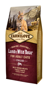 Carnilove Cat Lamb & Wild Boar Sterilised 6kg