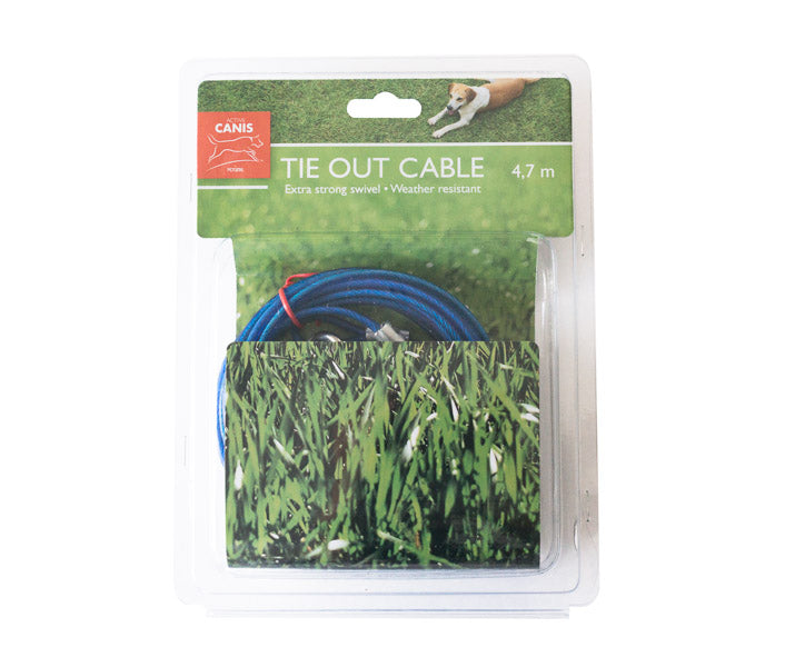 AC Tie Out Cable with Spring, 4,7 m