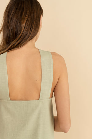 Serge top - Beachy Khaki
