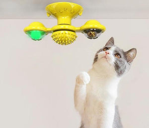 Self-Winding Windmill Toy for Cats