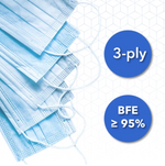 30 Pc Disposable 3-Ply Filtration Masks (BFE≥95%)