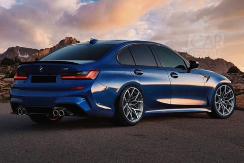 Carbon Carz - ABS BMW G20 3 Series Glossy black Performance Rear Boot Spoiler