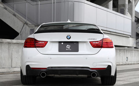 CARBON CARZ - ABS BMW F32 4 Series GLOSSY BLACK Rear Diffuser