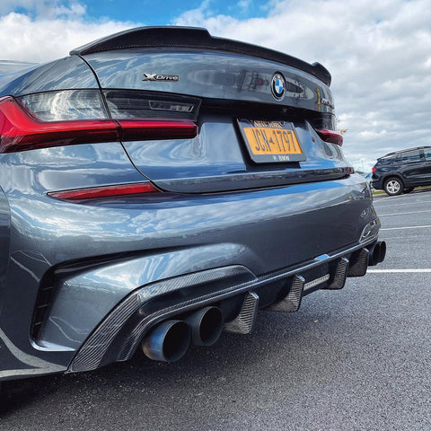 Carbon Carz - BMW G20 3 Series Rear Diffuser Carbon Fiber