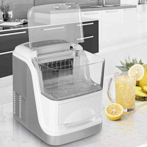 33lbs Electric Ice Cube Maker Easy-Touch Panel