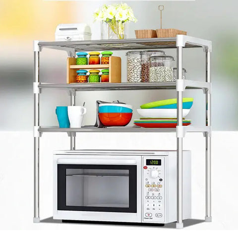 3-Tier Microwave Shelf Rack