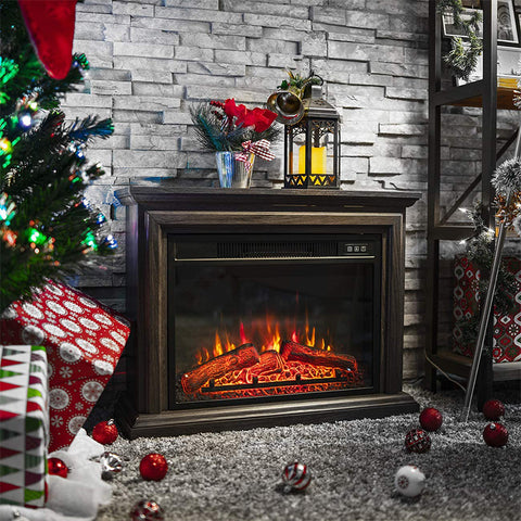 Electric Fireplace Stove 31-inch with Remote Control