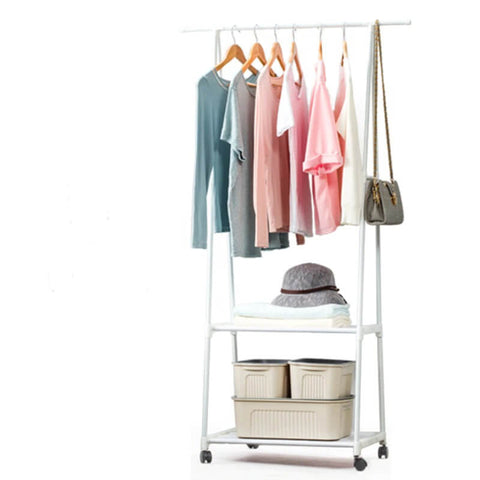 Multi-Function Hanging Clothes Rack With Wheels