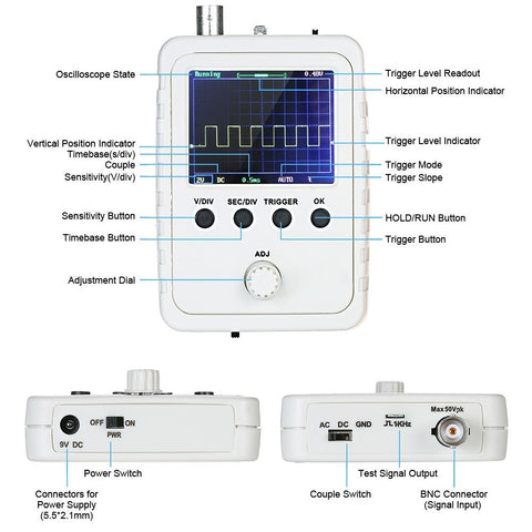 Digital Oscilloscope Kit with Power Supply