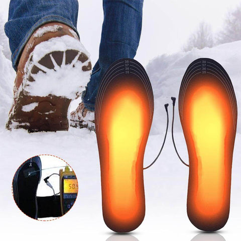 Unisex Winter Warmer Foot USB Charging Electric Heated Insoles