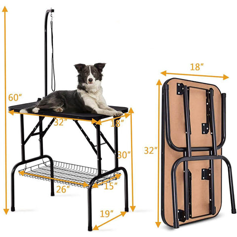 """Foldable 32"""" Pet Grooming Table"""