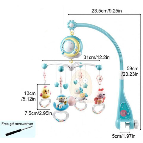 Baby Musical Mobile Crib with Music And Projection