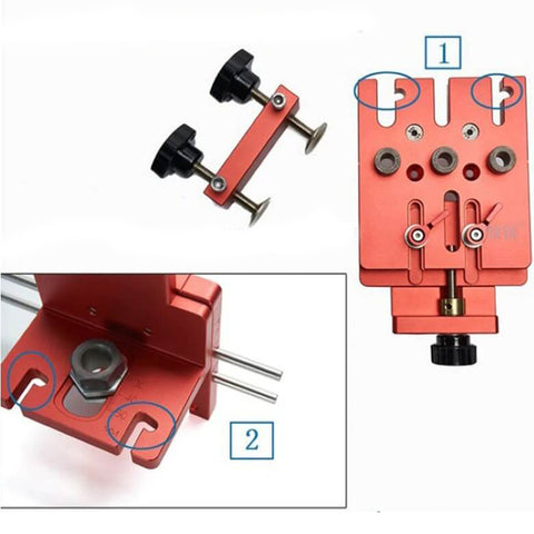 3 in 1 Woodworking Hole Drill Punch Positioner