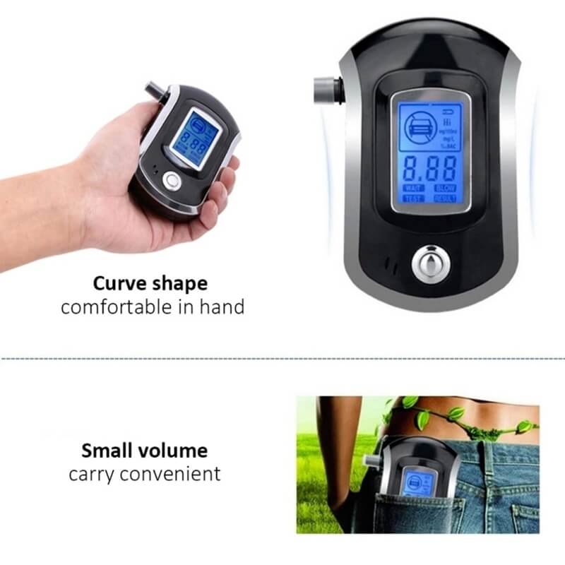 Portable breathalyzer, Alcohol breathalyzer, Breath tester
