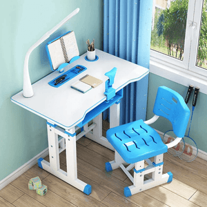 Kids Adjustable Study Desk And Chair Set