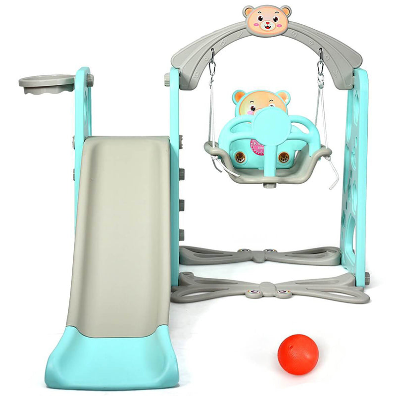 3 in 1 Toddler Climber and Swing Set Slide Playset