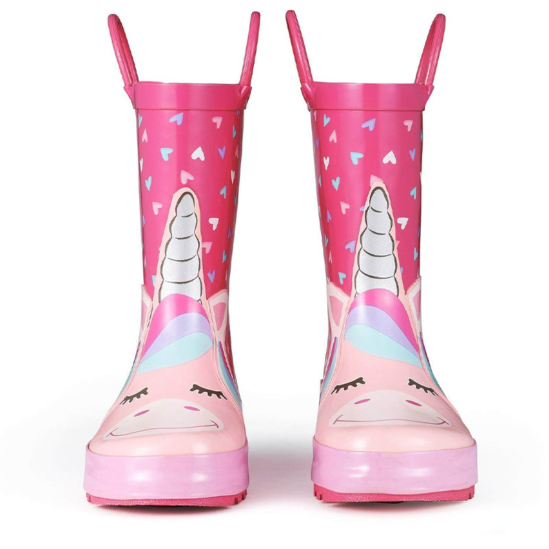 Girls Unicorn Waterproof Rain Boots