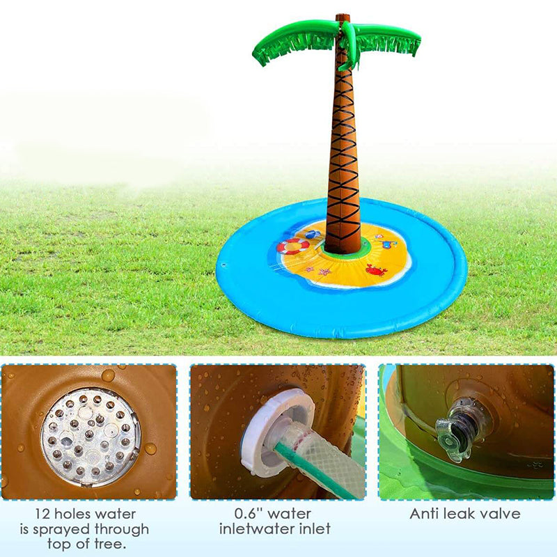 Kids Inflatable 72'' Palm Tree Sprinkler
