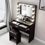 Dressing Table Vanity Makeup Table With Lighted Mirror