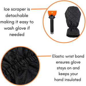 Ice Scrapers Mitt for Car - 2 Pack