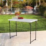 Adjustable Folding Camping Table 4'