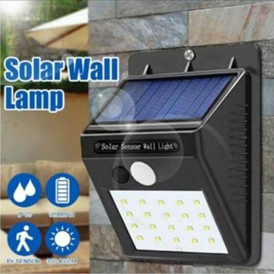 Solar Motion Sensor LED Waterproof Outdoor Light