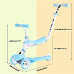 3 Wheels Kick Scooter for Kids with Removable Seat and Handle