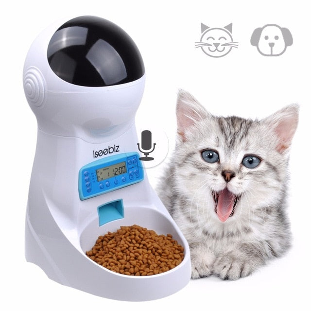 Wi-Fi Automatic Cat Feeder With Camera and Remote Control Via Smartphone - Funny Cats Shop