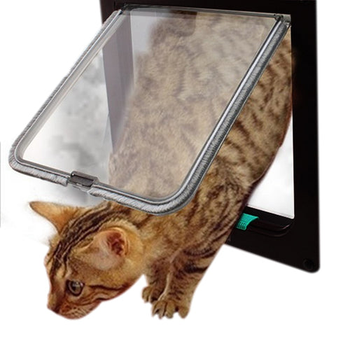4 Way Lockable Cat Door Security