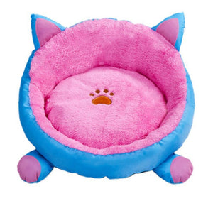 Round Four Seasons Cat Rest Bed
