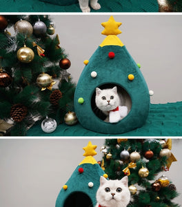 Christmas Tree Shape Cat House