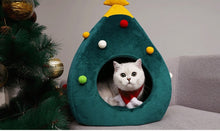 Load image into Gallery viewer, Christmas Tree Shape Cat House