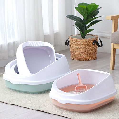 High Quality Anti Splash Cats Litter Box with Scoop