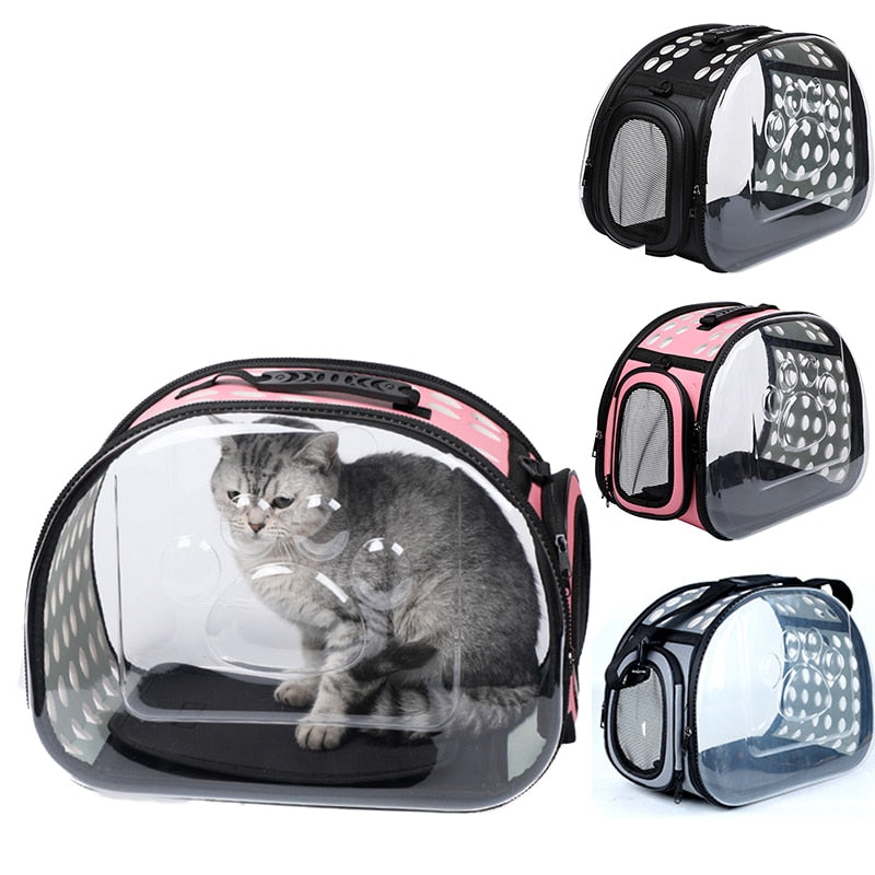 Deluxe Transparent Cat Travel Carrier - Funny Cats Shop
