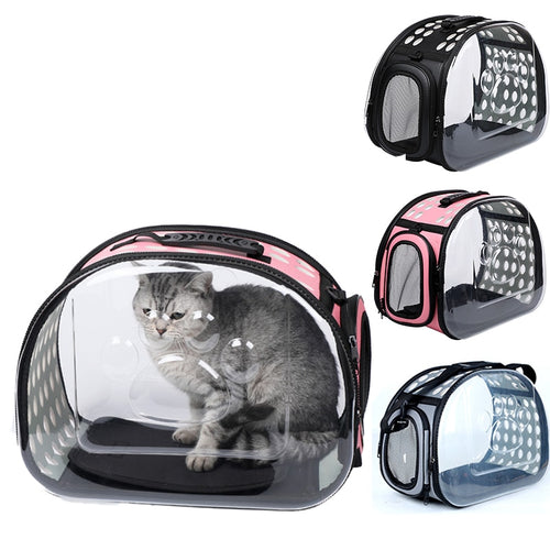 Deluxe Transparent Cat Travel Carrier