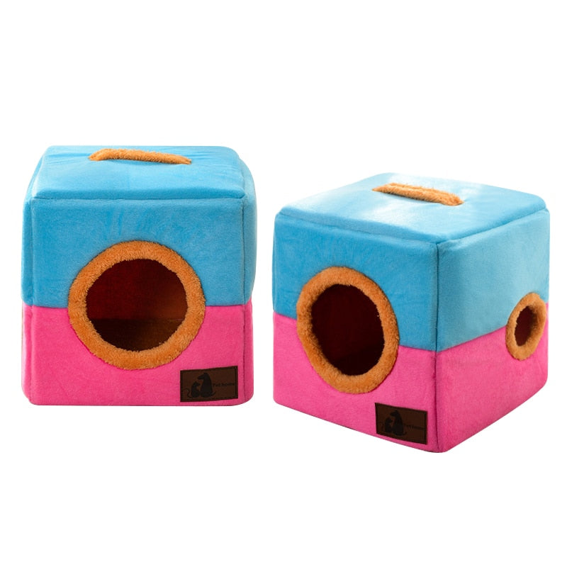 Soft Cube Cat House - Funny Cats Shop