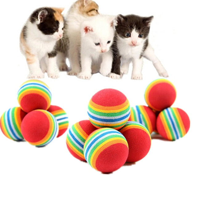 Rainbow Ball Cat Toy - Funny Cats Shop