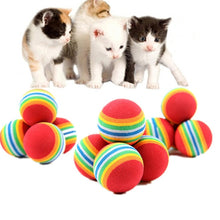 Load image into Gallery viewer, Rainbow Ball Cat Toy
